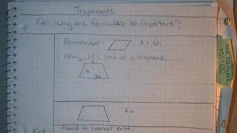 Thumbnail for entry 6 PACE Eus 7 Formulas - Area - Trapezoids