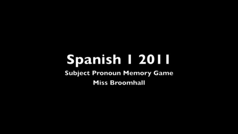 Thumbnail for entry Subject Pronoun Memory