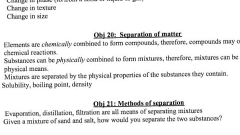 Thumbnail for entry Unit 3 notes- Separation of matter