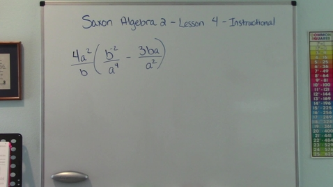 Thumbnail for entry Saxon Algebra 2 - Lesson 4 - Distribution Property - Solutions of Equations - Change Sides-Change Signs - Instructional