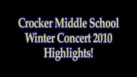 Thumbnail for entry Crocker Winter Concert 2010
