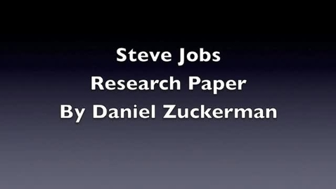 Thumbnail for entry Daniel Z A Movie About Steve Jobs