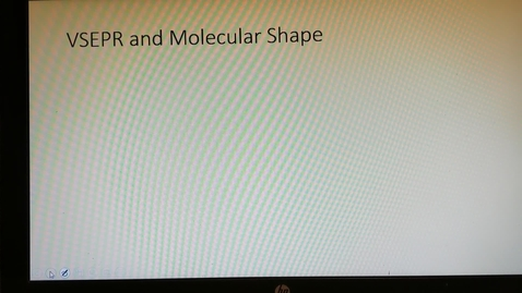 Thumbnail for entry VSEPR  and  Molecular Geometry