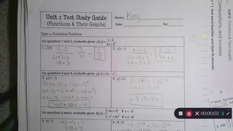 Thumbnail for entry 10-19 Pre Cal TEST Review