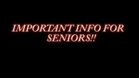 Thumbnail for entry Important Info for Seniors - WSCN (2010-2011)