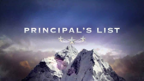 Thumbnail for entry Principal's List February 2015 Projects