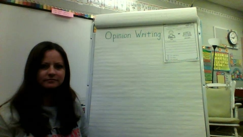 Thumbnail for entry Opinion Writing with Ms. Galvin