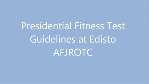 Thumbnail for entry Presidential Fitness Test at Edisto High AFJROTC