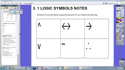 Thumbnail for entry 3.2 Logic Statement Notes