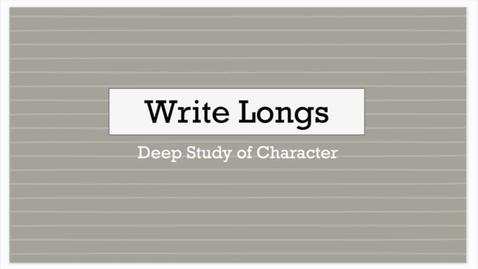 Thumbnail for entry ELA 1: Write Long Video Lesson 9/14