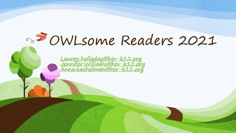Thumbnail for entry OWLsome Readers 2021 Interest Video