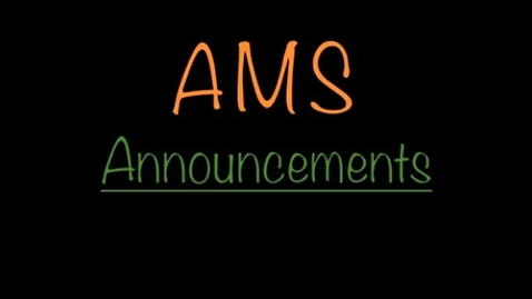 Thumbnail for entry AMS Morning Announcements-10/25/13