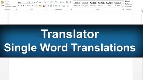 Thumbnail for entry Translator Feature - Read&Write Gold Version 11