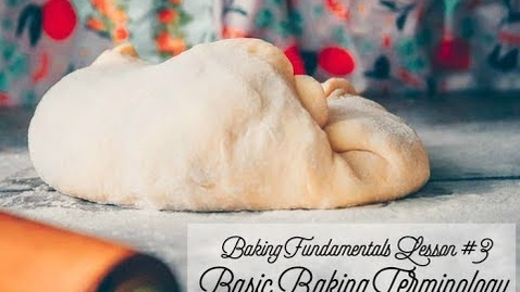 Thumbnail for entry BASIC BAKING TERMINOLOGY   folding, proofing, ferment, scoring, and more...