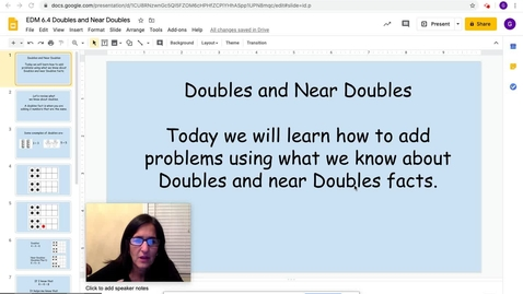 Thumbnail for entry Math Doubles and Near Doubles -EDM 6.4