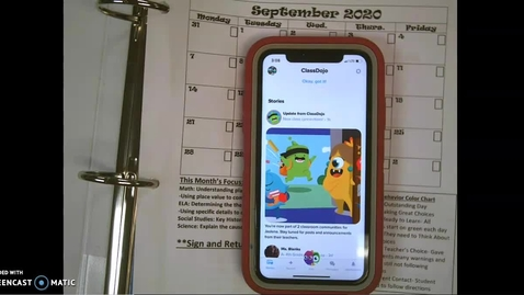 Thumbnail for entry Notebook and Classdojo