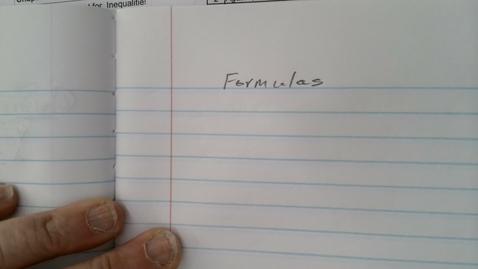 Thumbnail for entry Formulas