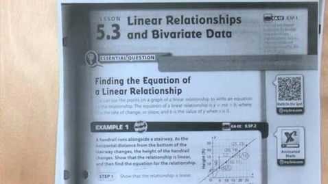 Thumbnail for entry 5.3b Linear Relationships and Bivariate Data Part 2