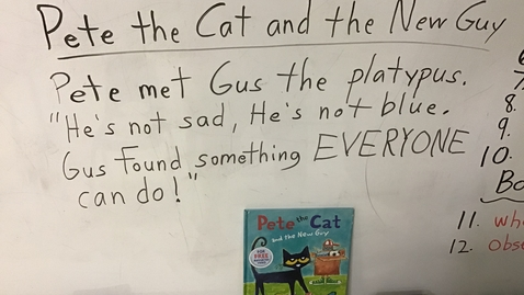 Thumbnail for entry Stroty Sentences for 'Pete the Cat and the New Guy'