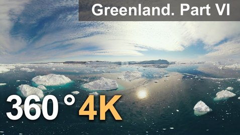 Thumbnail for entry 360°, Icebergs of Greenland. Part VI. 4К aerial video