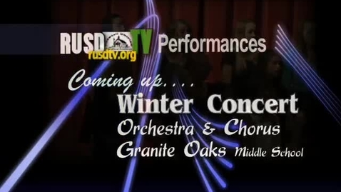 Thumbnail for entry Granite Oaks Orchestra Winter Concert, 2010