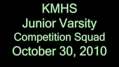 Thumbnail for entry KMHS JV Competition Cheerleaders