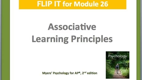 Thumbnail for entry Associative Learning Principles