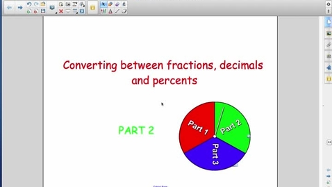 Thumbnail for entry 212 day 4 part 2 (Fractions, Decimals and Percents