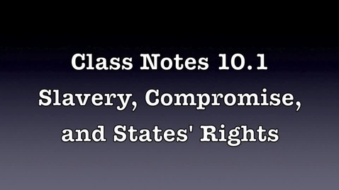 Thumbnail for entry Class Notes 10.1