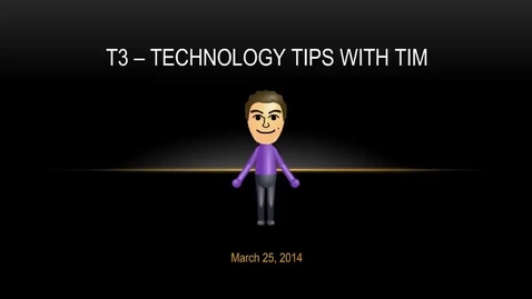 Thumbnail for entry T3 Video for March 25, 2014