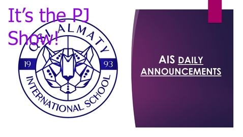 Thumbnail for entry QSI AIS Announcements November 23-27
