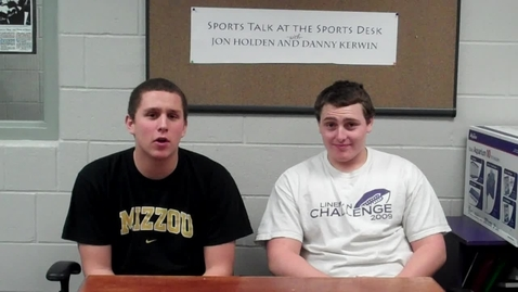 Thumbnail for entry Sports Talk at the Sports Desk: Episode 9