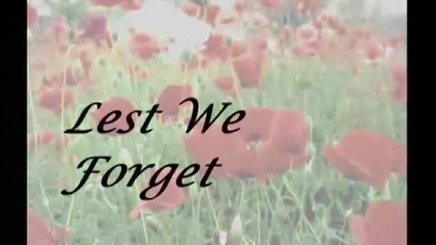 Thumbnail for entry Remembrance Day PSA