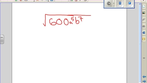 Thumbnail for entry Simplify radicals with variables example 23