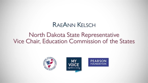 Thumbnail for entry My Voice NSME 2012 PSA: RaeAnn Kelsch, North Dakota State Representative