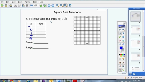 Thumbnail for entry Square Root Functions