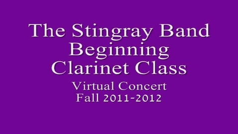 Thumbnail for entry 2nd Period Beg. Clarinet Class