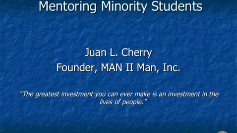 Thumbnail for entry Mentoring Minority Students