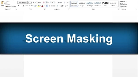 Thumbnail for entry Screen Masking Feature - Read&Write Gold Version 11