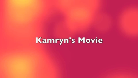 Thumbnail for entry Kamryn's iMovie