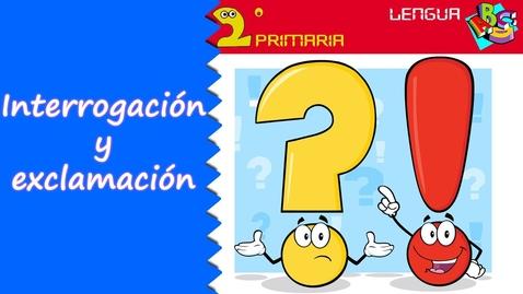 Thumbnail for entry Lengua Castellana. 2º Primaria. Tema 2. Signos de interrogación y de exclamación