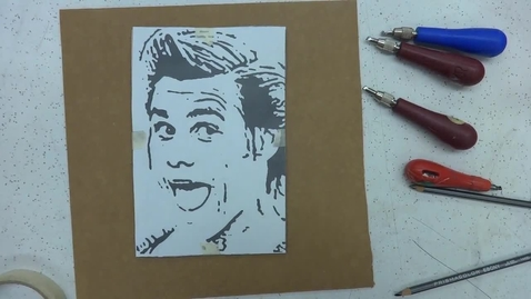 Thumbnail for entry Linoleum Block Print 2: Ink Outlines