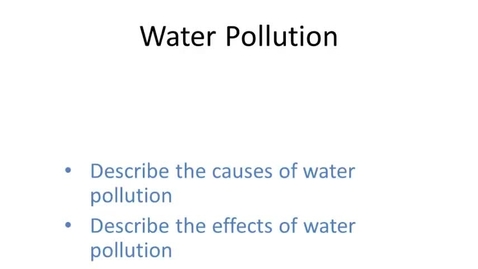 Thumbnail for entry Water Pollution