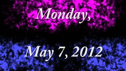 Thumbnail for entry Monday, May 7, 2012
