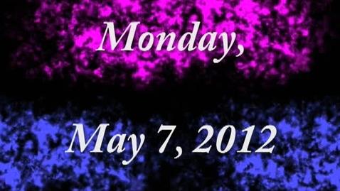 Thumbnail for entry Monday, May 7, 2012