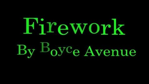 Thumbnail for entry Firework Lyric Typography