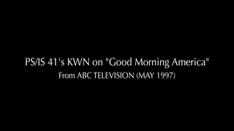 "Thumbnail for entry (1997) NEWS REPORT - KWN on ABC's ""Good Morning America"""