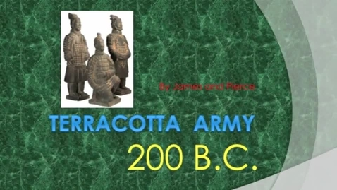 Thumbnail for entry terracotta army chris and pierce