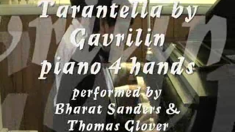 Thumbnail for entry Piano Whiz Kid Bharat Sanders plays Tarantella duet by Gavrilin - piano duet
