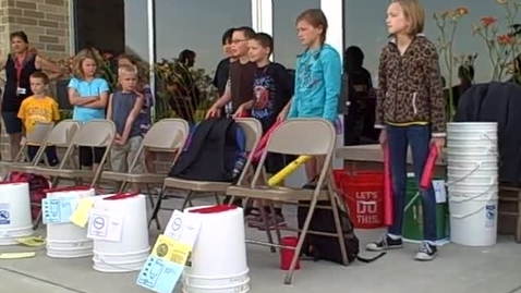 Thumbnail for entry 9:00 a.m. performance (part 2) of Bucket Drumming - Rock Ledge Summer School 2015